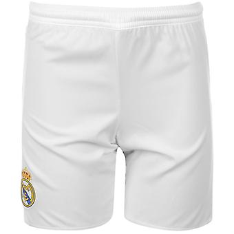 2015-2016 real Madrid Adidas hemma Shorts (vit) - barn