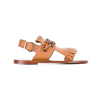 Marni women's SAMSW21C00LV70200M29 brown leather sandals