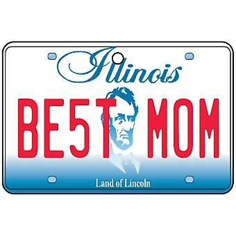 Illinois - Best Mom License Plate Car Air Freshener