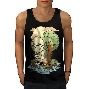 Lonely Sad Crying Men BlackTank Top | Wellcoda