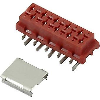 Pin enclosure - PCB Micro-MaTch Total number of pins 6 Connfly 1390074 Contact spacing: 1.27 mm 1 pc(s)