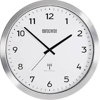 Eurochron EFWU 2600 Radio Wall clock 38 cm Aluminium (brushed)