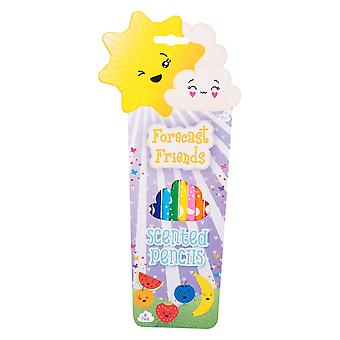 Forecast Friends Pack of 8 Scented Colouring Pencils Childrens Stationery