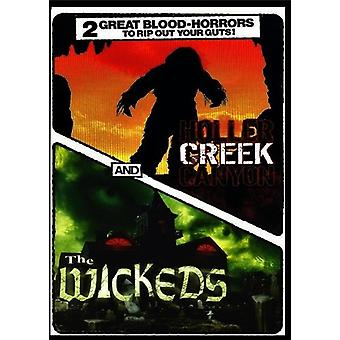Horror: Holler Creek Canyon & Wickeds [DVD] USA importerer