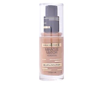 Max Factor Miracle Match Blur And Nourish Foundation Caramel Make Up Womens New