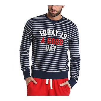 Sun 68 men's F181080734 Blau cotton Sweatshirt