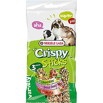Versele Laga Sanck Crispy Sticks Herbivores Triple Variety Pack (Small pets , Treats)