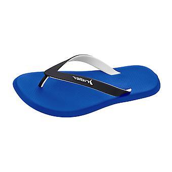R1 de piloto para hombre sandalias Flip Flops - negro y azul