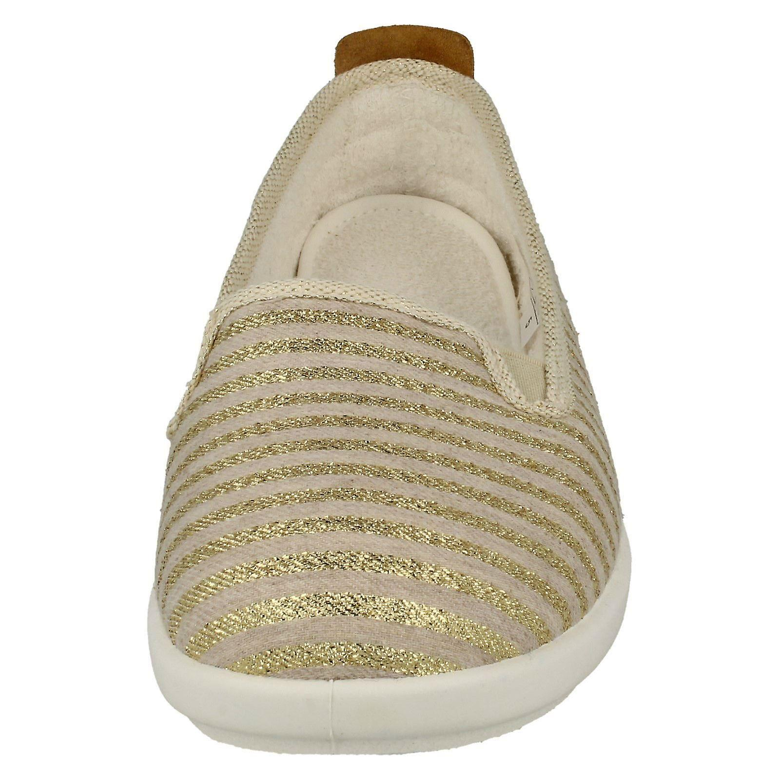 V UK B Gold EU Stripe Textile 72224G Casual Size Cortney 5 US Size 7 37 Easy Size 5 Ladies Beige Loafers g6v0Onwq
