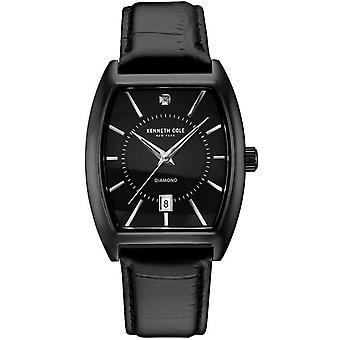 Kenneth Cole New York men's wrist watch analog quartz leather 10030820