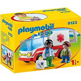 Playmobil 9122 1.2.3 redning ambulanse