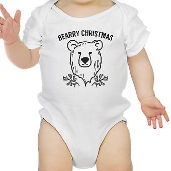 Bearry Christmas Bear Cute Christmas Baby Bodysuit White New Mom Gift