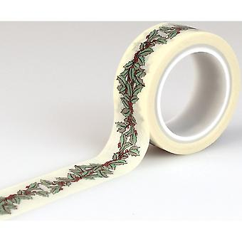 Christmas Wonderland Decorative Tape-Holly Berry