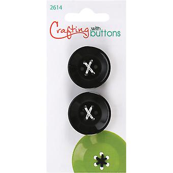 6 Hole Buttons-Small Black 1