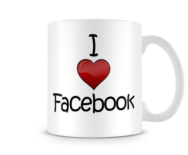 I Love Facebook Printed Mug