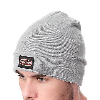 Jesse James Heather Grey Roll Up Fleece Beanie