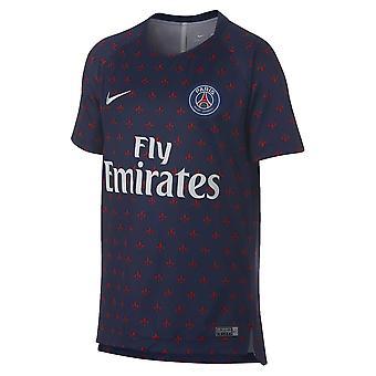2018-2019 PSG Nike Pre-Match Training Shirt (Navy) - Kids