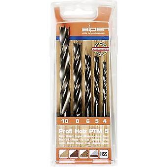 Wood twist drill bit set 5-piece 4 mm, 5 mm, 6 mm, 8 mm, 10 mm Alpen