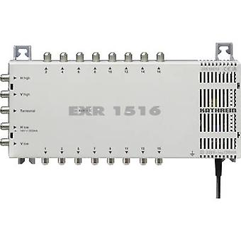 Kathrein EXR 1516 SAT multiswitch Inputs (multiswitches): 5 (4 SAT/1 terrestrial) No. of participants: 16