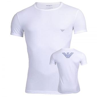 Emporio Armani Eagle Athletics Crew Neck T-Shirt, White, Large