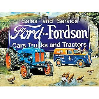 Fordson og Fordson (Ls tunet Scene) Metal registrere 200 X 150 Mm