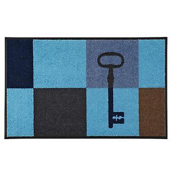 wash + dry blue key squares 50 x 75 cm