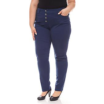 sheego ladies pants in large size for Navy Marine look