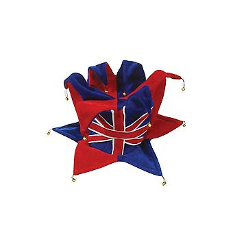 Union Jack Wear Union Jack Jester Hat - With Bells Top & Bottom
