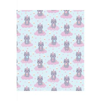 Attitude Clothing Luna Caticorn Wrapping Paper