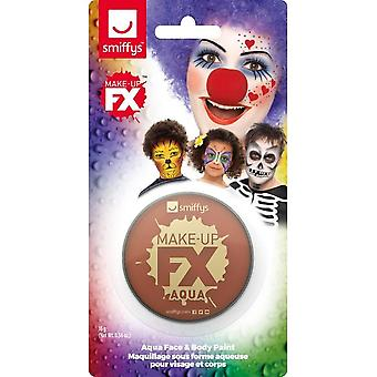 Smiffys Make-Up FX, Light Brown, Aqua Face and Body Paint, 16ml, Water Based