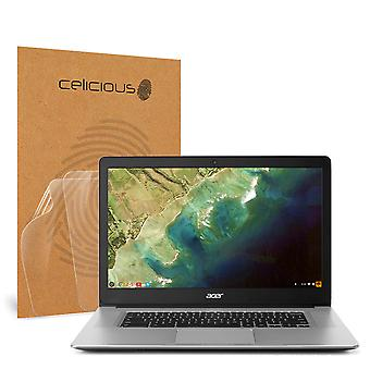 Celicious Vivid Invisible Glossy HD Screen Protector Film Compatible with Acer Chromebook 15 CB515-1HT [Pack of 2]