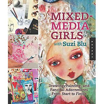 Mixed-media Girls with Suzi Blu - Drawing - Painting - and Fanciful Ad