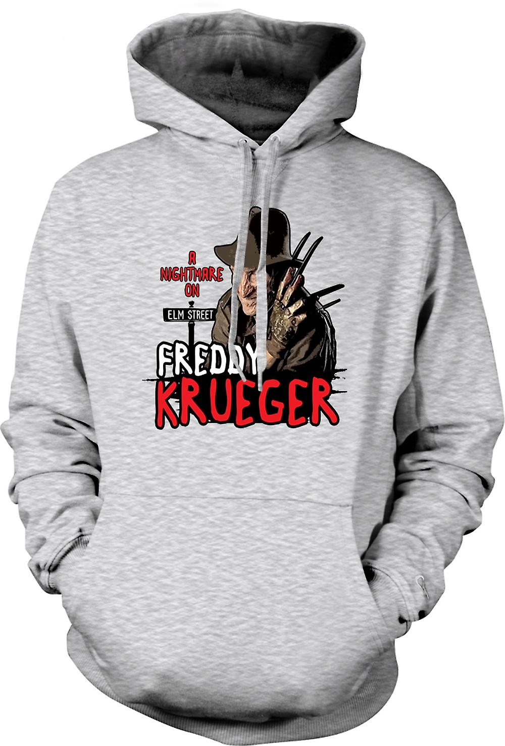 Mens Hoodie - Nightmare On Elm Street - Freddy Krueger