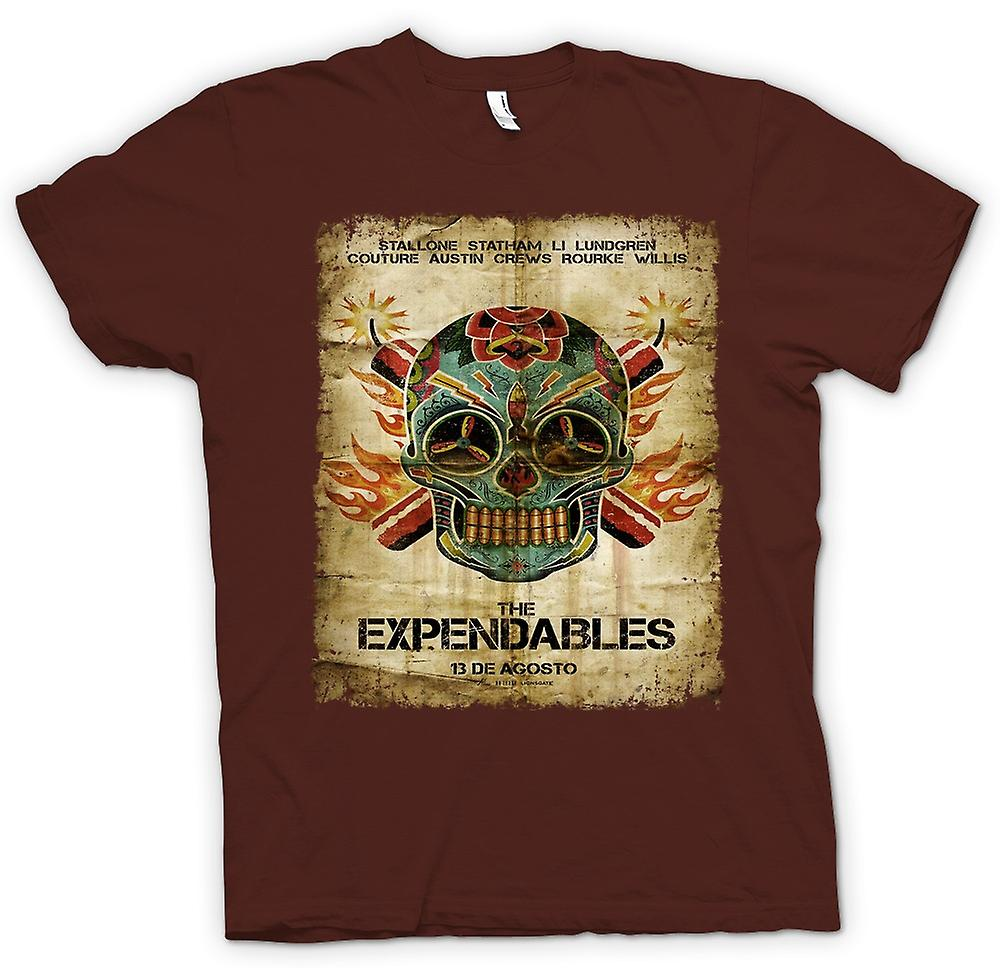 Hombres camiseta-el cartel de Expendables - B Movie-