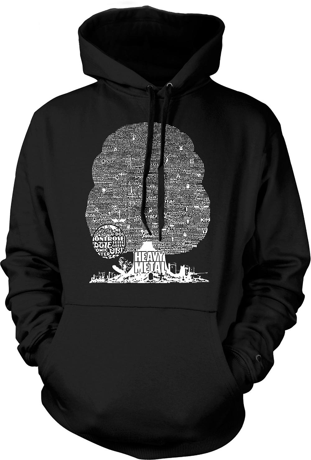 Mens Hoodie - Heavy Metal - Tree Of Life