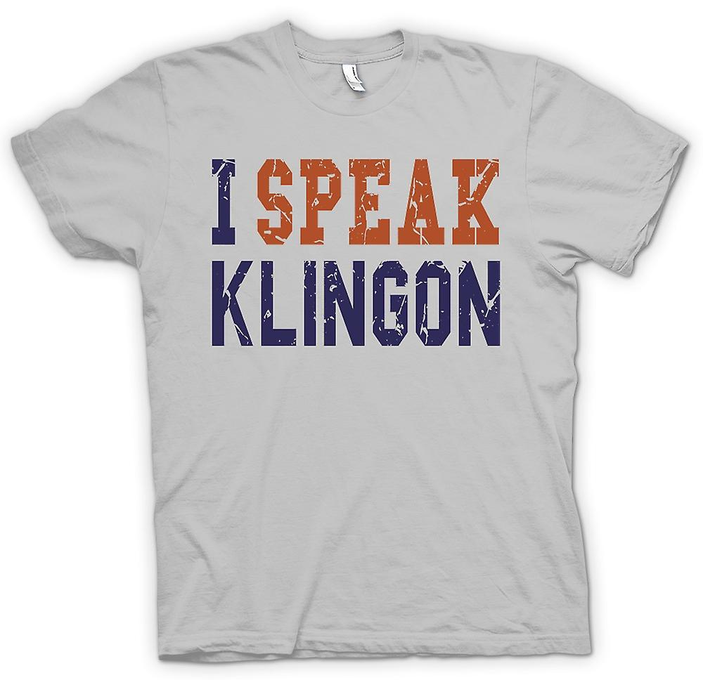 Mens T-shirt - I Speak Klingon - Funny