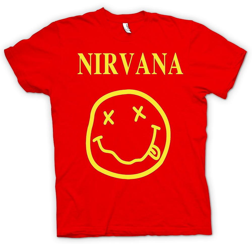 Herren T-Shirt - Nirvana Smiley