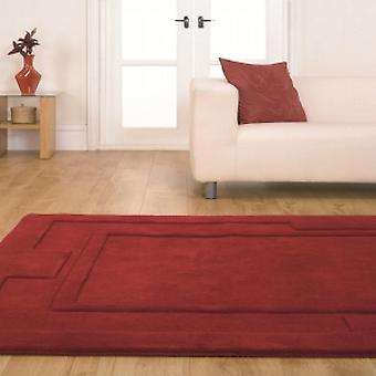 Apollo Red  Rectangle Rugs Plain/Nearly Plain Rugs