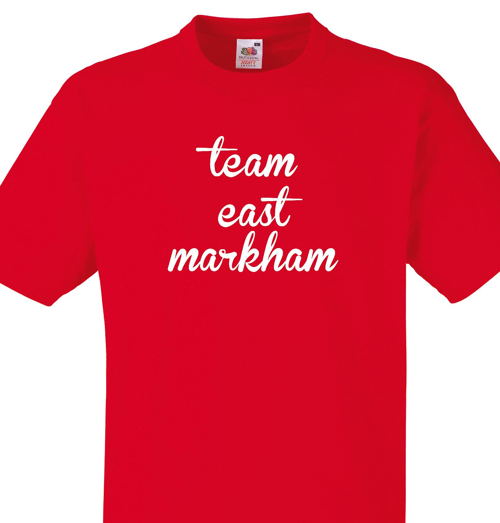 Team East markham Red T shirt