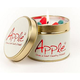 Lily Flame Scented Candle in a presentation Tin - Apple