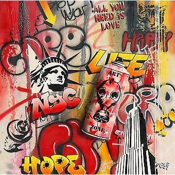 Art Zone Graffity Poster Print by Moega