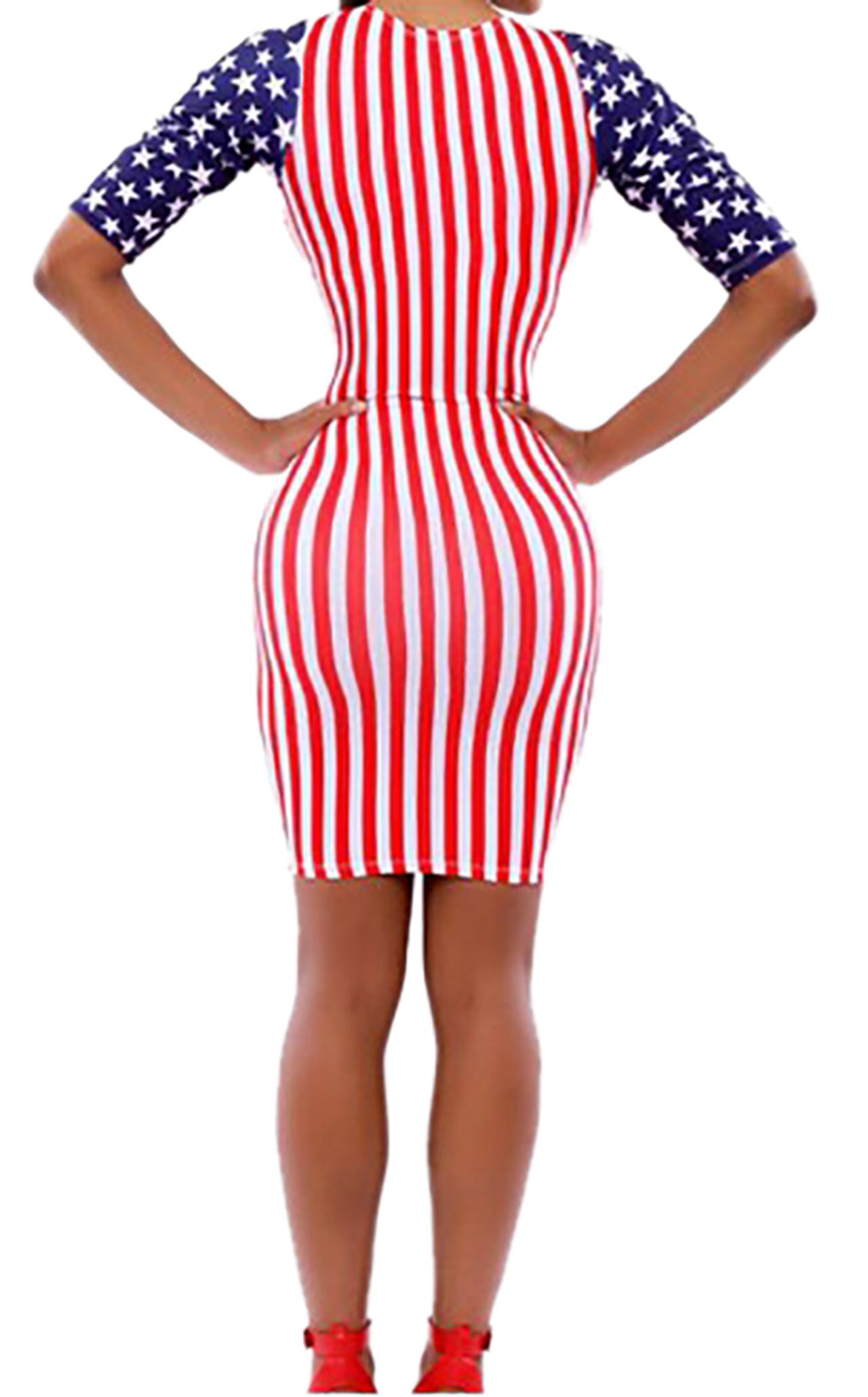 Waooh - Dress American flag motif Huon