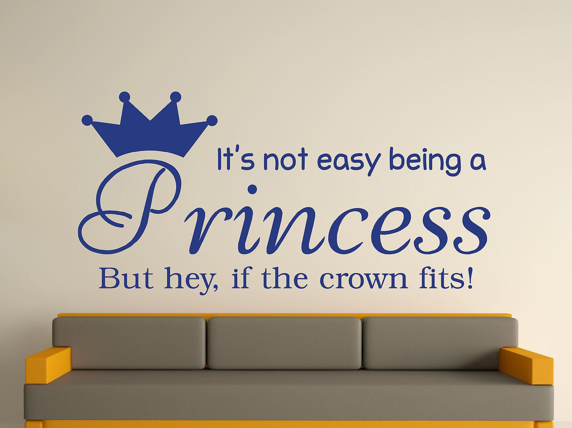 Being A Princess Wall Art Sticker - Azure