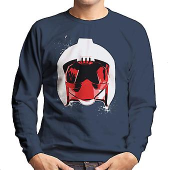 Original Stormtrooper Rebel Pilot Helmet White Paint Splatter Men's Sweatshirt