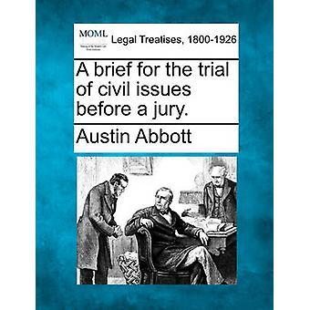 Eine kurze für den Prozeß des zivilrechtlichen Fragen vor einer Jury. von Abbott & Austin