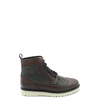 Fred Perry Brown Leather Ankle Boots