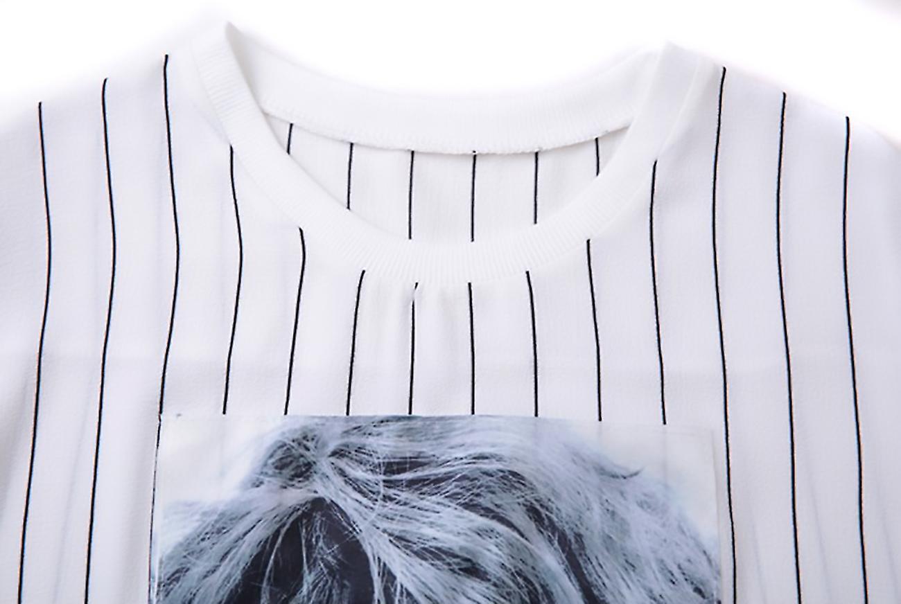 Top with half sleeve glamorous photo printed Stu