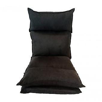 Rebecca Armchair Furniture Chair Meditation Futon black metal Suede reclosable