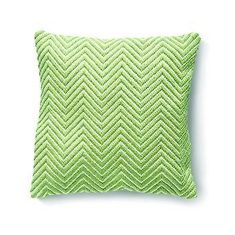 Hug rug omkeerbare geweven visgraat kussen in groen