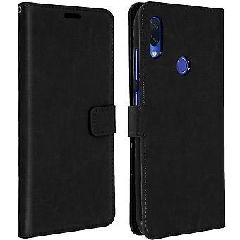 Vintage Series, flip wallet case for Xiaomi Redmi Note 7 - Black